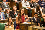 Gloucestershire MYP makes maiden speech in House of Commons